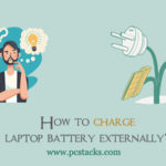 How to charge laptop battery externally?