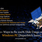 fix 100% Disk Usage on Windows PC