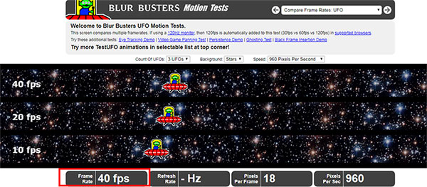 UFO test FPS checker for pc
