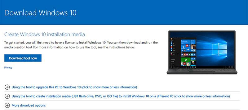 Fix using Windows Media Creation Tool