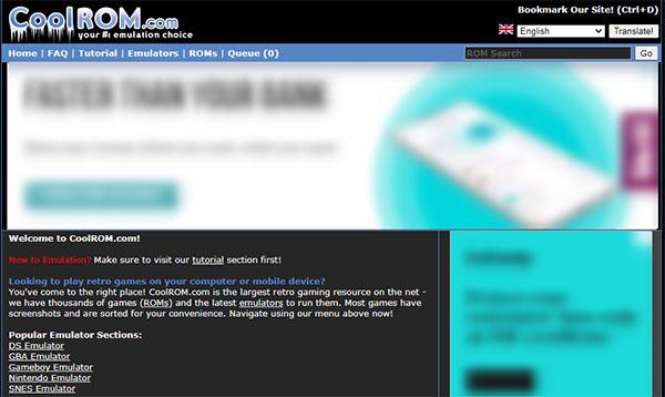 sitio de ROMs de juegos populares
