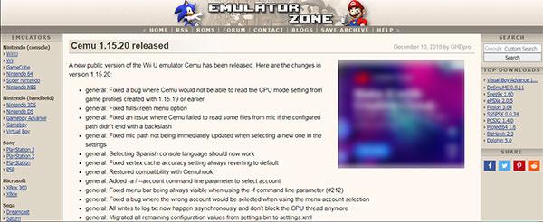 Freie Emulator Zone für Roms