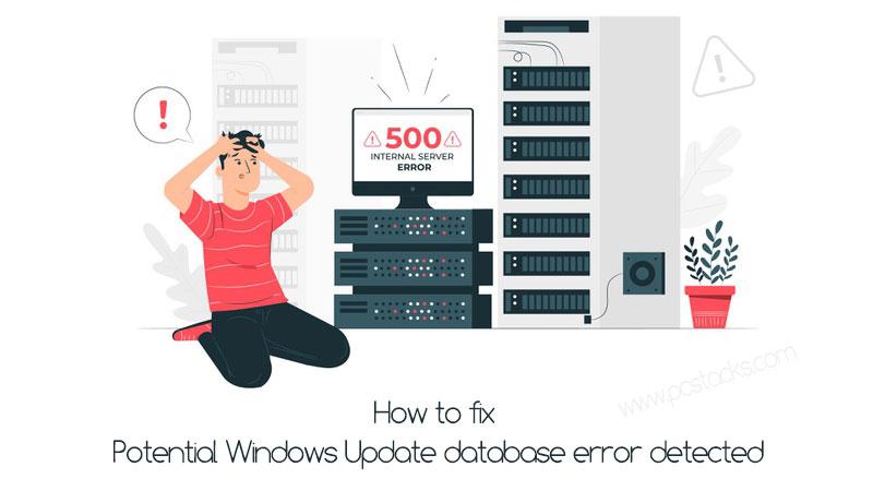 potential Windows Update database error detected