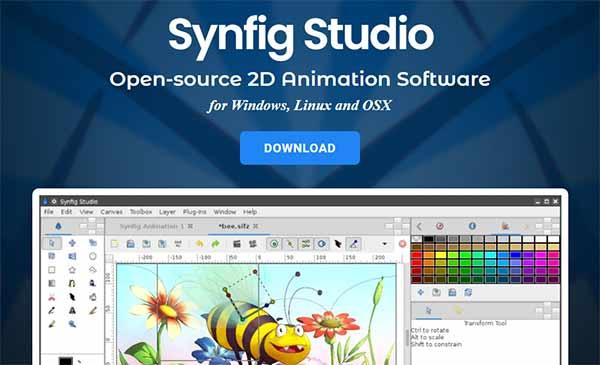 Synfig Studio Anime Software for Children