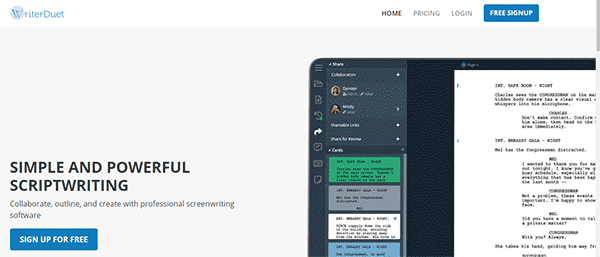 Best screenwriting software for Film makers