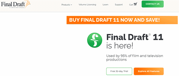 Final Draft 11 Screenwriting Software for free