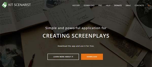 Kitscenarist screenwriting software