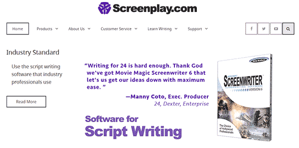 Best Software for script writing