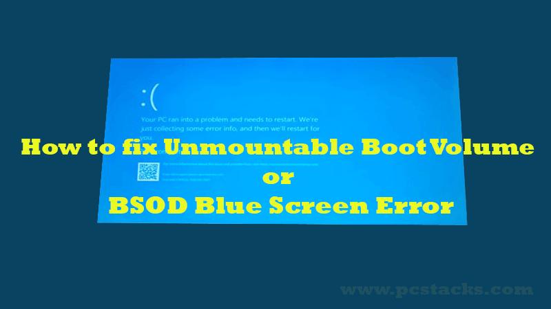 How to fix Unmountable Boot Volume Error
