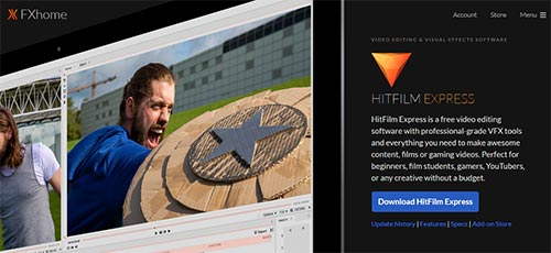 Hitfilm Express Software for best editing video