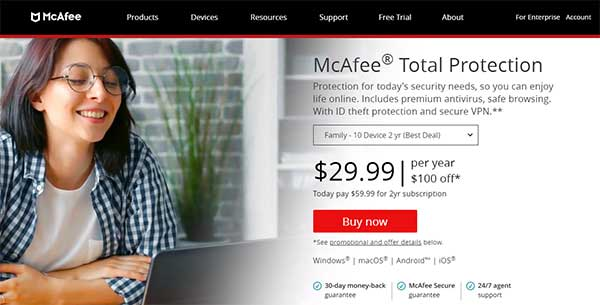 McAfee Total Protection for Low-End PC