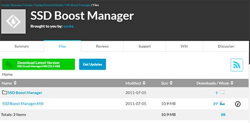 SSD Boost Manager