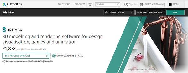 3DS Max Software, 3D design software