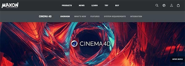 Cinema 4D, 3D Building design software for Windows