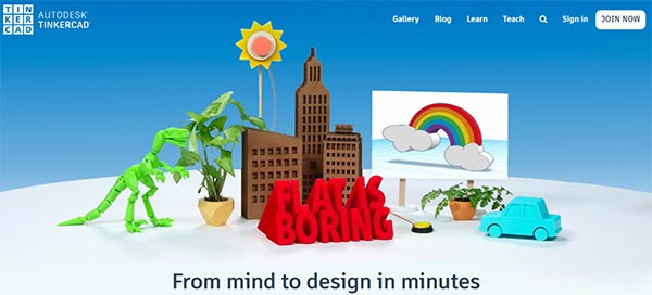 Tinkercad Software, Low-end PC software for modeling