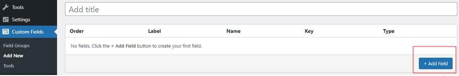 Add a custom field