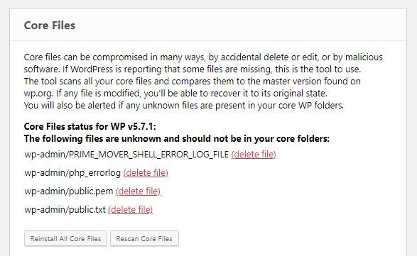 ERS Core Files tool