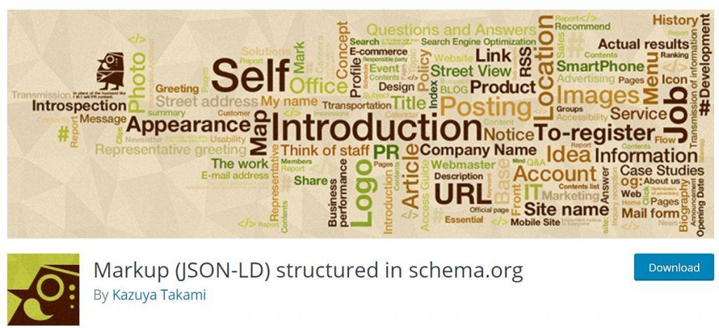 Markup(JSON-LD) structured in schema.org