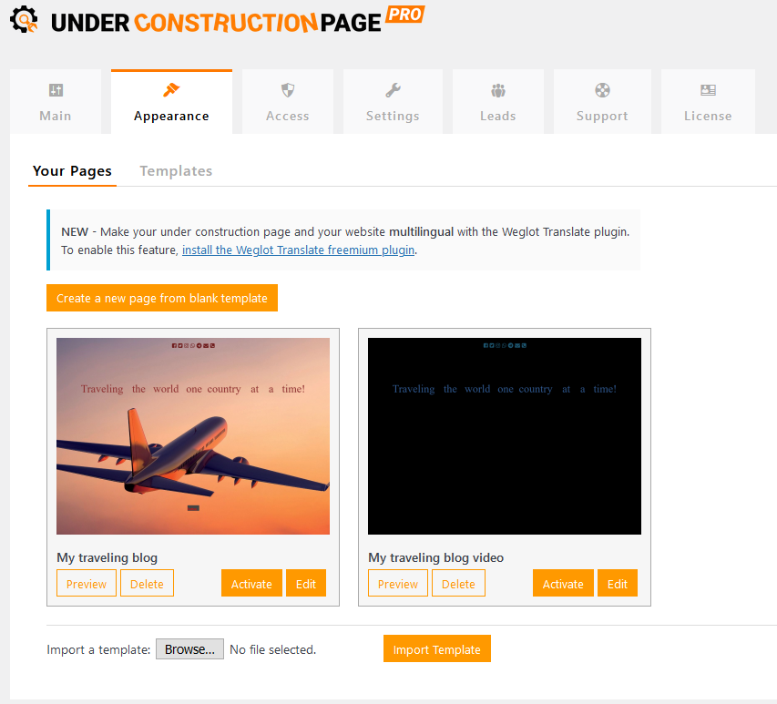 UCP pages created