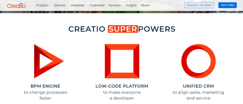 Creatio super powers