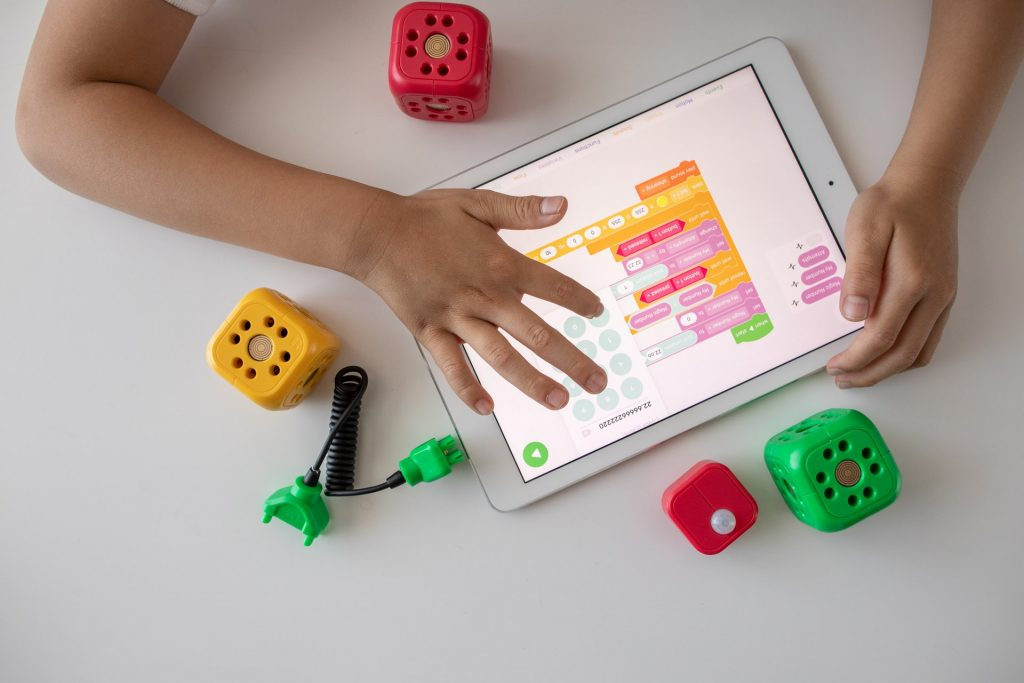 Learning game on tablet