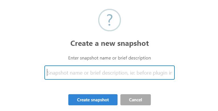 WP Reset Snapshots feature