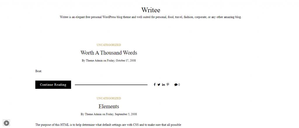 Writee Theme