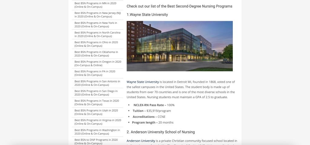 Best Nursing Programs
