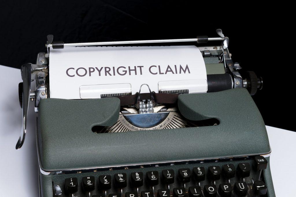 Copyright claim writing