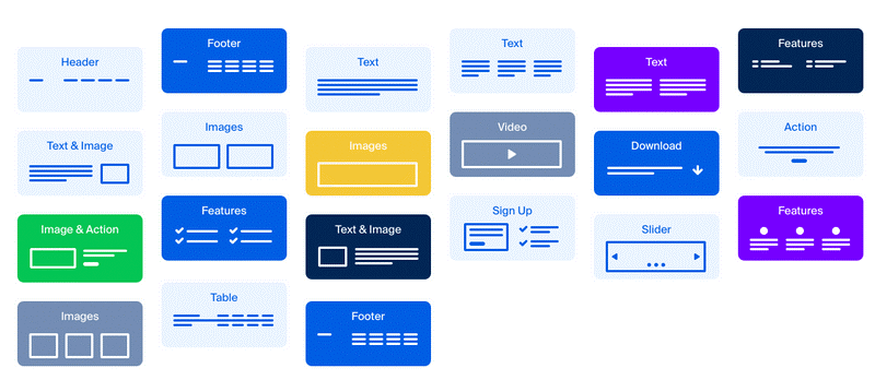 Low fidelity website wireframe templates