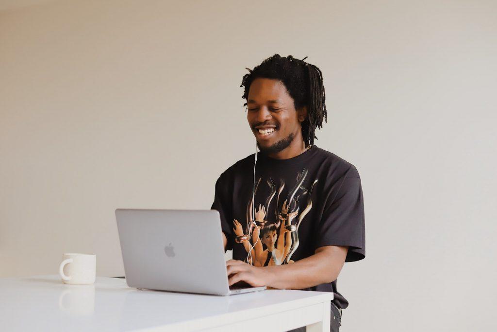 Man working on MacBook